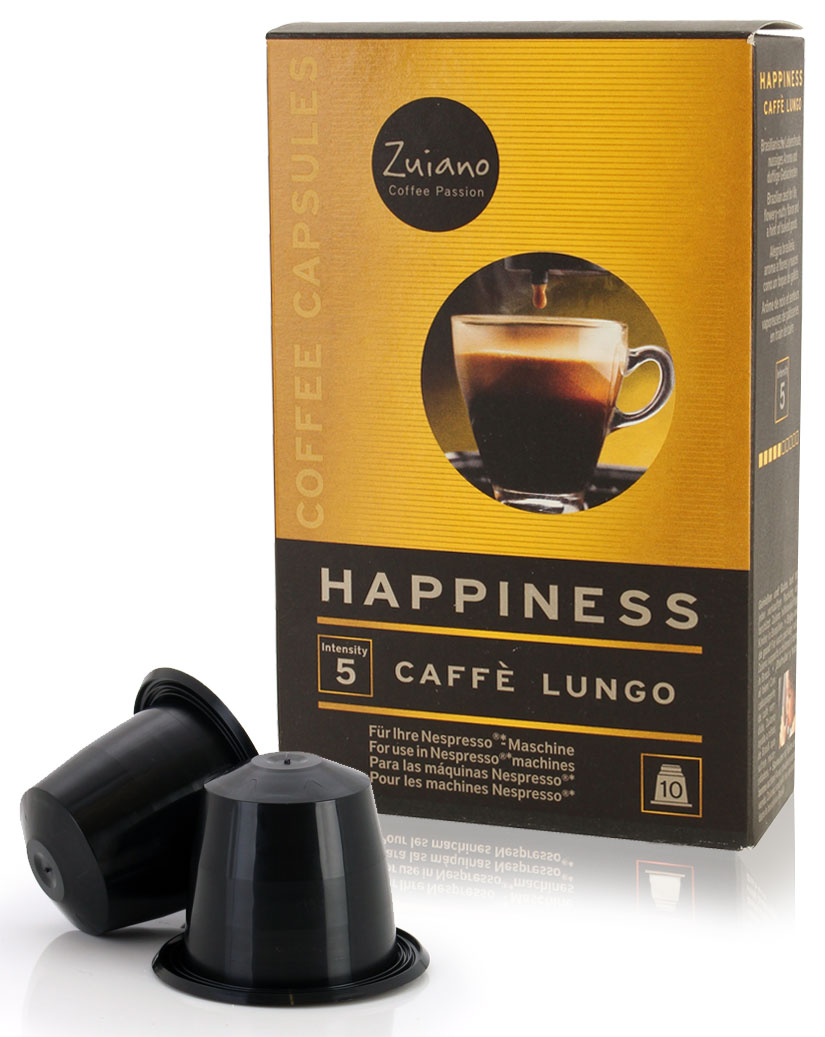 Kaffeekapsel HAPPINESS Lungo von Zuiano Coffee 10er Packung jetztbilligerkaufen