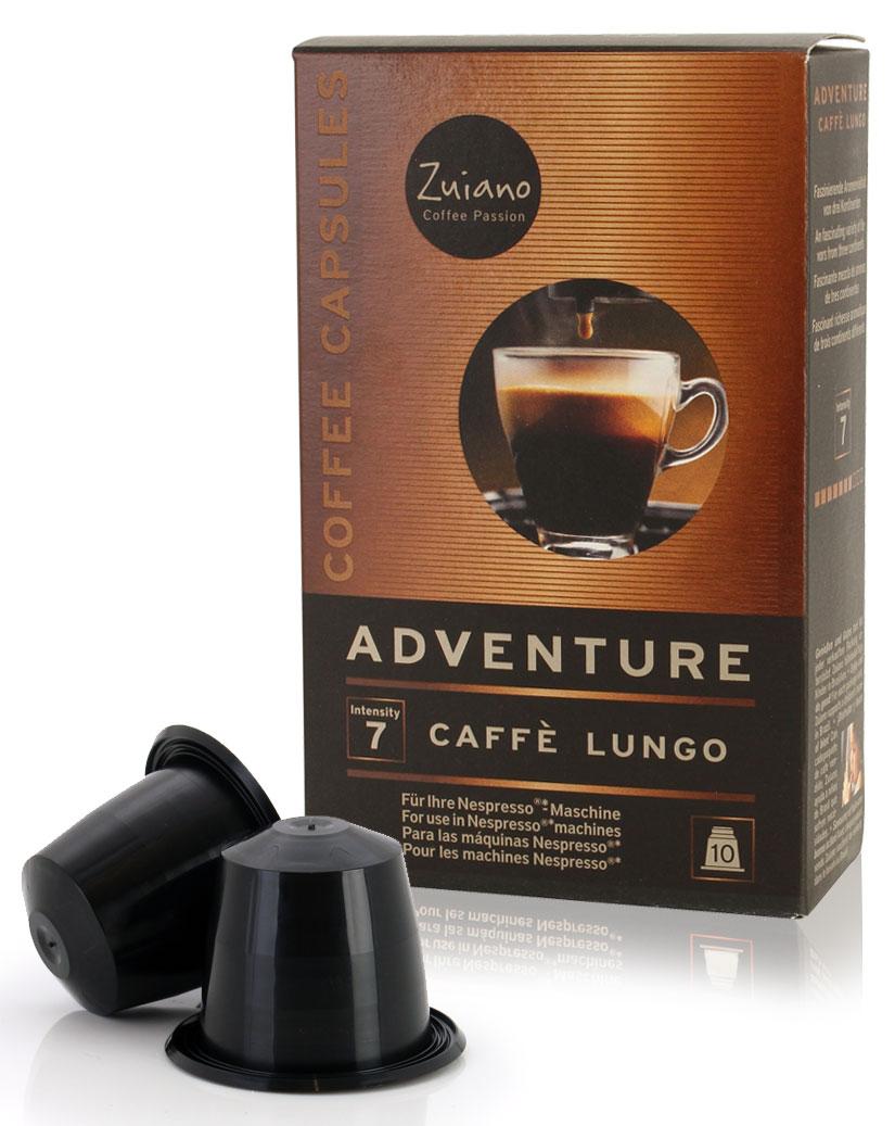 Kaffeekapsel ADVENTURE Lungo von Zuiano Coffee 10er Packung