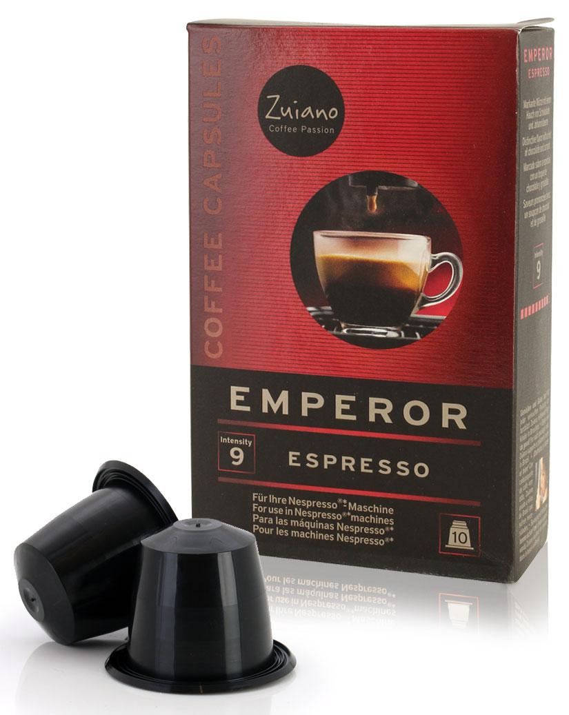 Espressokapsel EMPEROR von Zuiano Coffee 10er Packung - broschei
