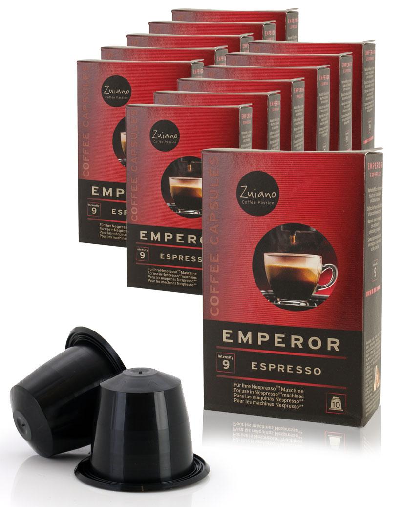 Megapack EMPEROR von Zuiano Coffee 12x10 Stück - broschei