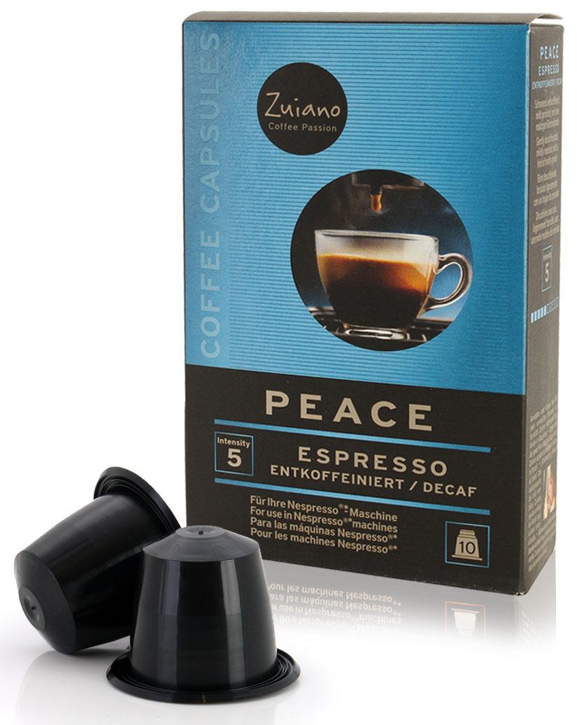 Kaffeekapsel PEACE (entkoffeiniert) von Zuiano Coffee 10er Packung